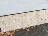 Granite hearth and back panel