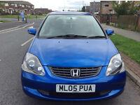 Honda Civic Automatic 1.6 i VTEC Executive 5dr Full Black Leather Seats Long MOT £1500