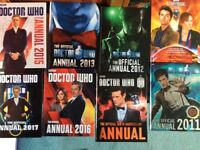 Doctor who annuals books bundle