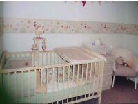 Cream Wooden Cot Bed