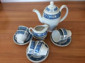 BURSLEM Alpine white coffee set