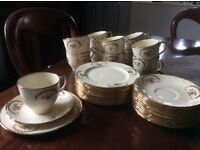 Vintage Alfred Meakin cream and gold tea service
