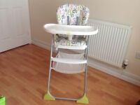 As new Joie mimsy highchair