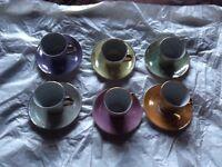 1960s Retro Coffee Cup Set