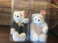 TY BEANIE BABY BRIDE and GROOM SET
