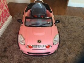 Pink battery operated car