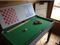 Multi-Use Games Table - includes football table and snooker