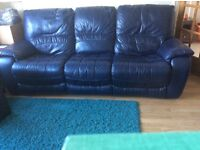 Dfs reclining leather sofas, 2 & 3 seater settees