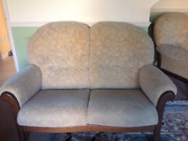 Two and three seater sofa with arm chair