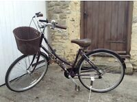 Dawes ladies' bike. 26ins wheels. With accessories
