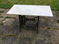 Garden Vintage Sowing Marble Table
