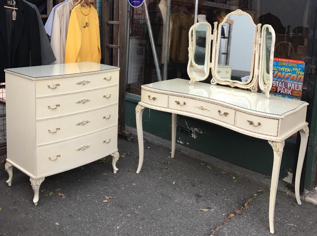 Vintage Original Shabby Chic Bedroom Suite