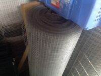 "Wire mesh galvanised 1/2 "" X 1/2 "" for avairy fencing etc , very large roll Mallusk."