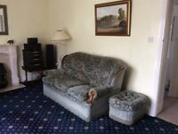 Three piece suite 3 seater plus two arm chairs, plus conservatory suite 2 seater plus two arm chairs