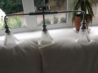 A selection of light fitting and shades
