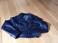 Leather look black jacket