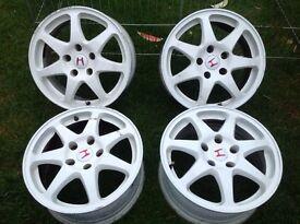 "4x Sprint SW9 16"" alloy wheels, white, fitment 5x114.3"