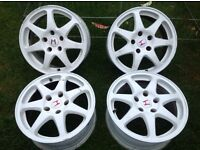 "4x Sprint SW9 16"" alloy wheels, white, fitment 5x114. Will fit EP2 2005"