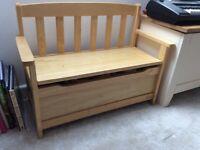 John Lewis wooden toy storage bench