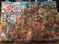 Jigsaw Puzzle I love Great Britain Mike Jupp's 1000 pieces