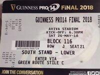 Pro 14 Final tickets 2 adult & 2 junior