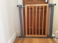 Wooden stair gate by Linda
