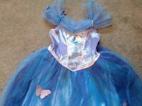3 x Disney Princess dresses / girls dress up - Elsa, Cinderella, Jasmine - age 8-9 years