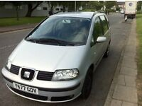 SEAT ALHAMBRA LEFT HAND DRIVE 1.9 TDI ONE OWNER CAR