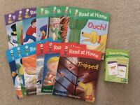 Bundle of Read at Home Oxford Reading Tree Books and Phonic Cards