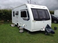 2 berth end bathroom in pristine condition fitted active trailer control,stableliser ,joy to tow.