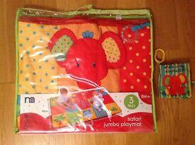 Mothercare Safari Jumbo Playmat & Soft Book