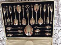Beautiful vintage dessert set of cutlery