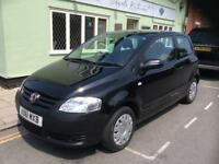 2011 Volkswagen Fox 1.2 Black 51,000 Miles FSH 6 STP Group 1 INS Warranty PX Poss TEL 07810 733448