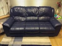 3 Seater Sofa and Single Armchair Leather Suite
