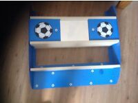 FREE! Boys bedroom football shelf magnetic mirror hide away storage shelving unit blue
