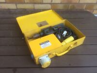 110v Bosch drill and transformer in carry case.