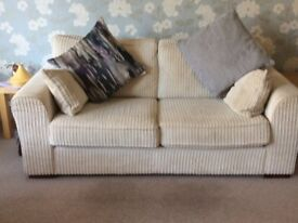 Luxury Two Seater lounge Sofa and Footstoll