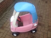 Little Tikes Pink Ride On Cozy Coupe Car
