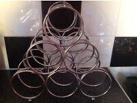 6 bottle metal wine rack