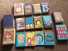 Set of 16 Second hand Jacqueline Wilson books
