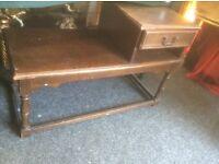 Vintage oak telephone table/seat