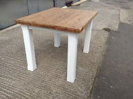 New solid pine handmade dining table 2ft9x3ft6 bench bench's chairs chunky rustic shabby chic
