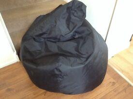 Large black bean bag seat