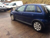 Vauxhall corsa 1.2 petrol new timming chain fitted mot end of March four door starts and goes well
