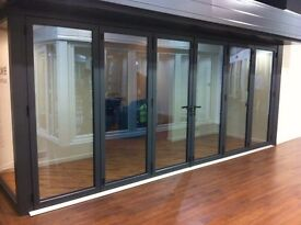 Warmcore Bi folding Doors 4 meter wide £ 2975.00 4 leaf bi folding door