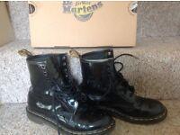 Black patent dr martens boots size 6