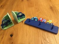 Children's Bookends and Matching Wall Hook