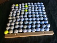 100 golf balls for sale. Ex. Condition. Quality brands including Taylor Made, Titleist etc.