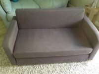Ikea two seater Sofa bed, taupe