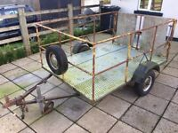 Car trailer. Ideal for transporting quad or lawnmower. £150 ono